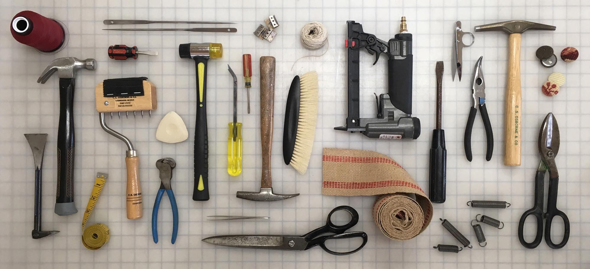 Upholstery tools - each tells its own story